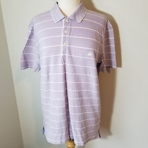 Brooks Brothers Striped Polo Shirt Size Large